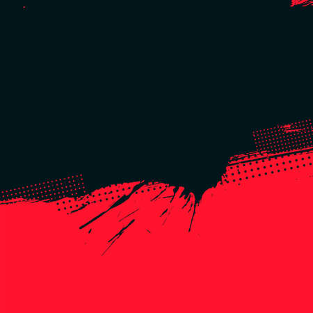 red and black grunge halftone background Illustration