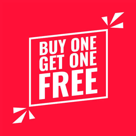 buy one get one red flat background