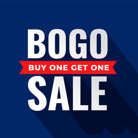 buy one get one bogo sale flat ribbon banner