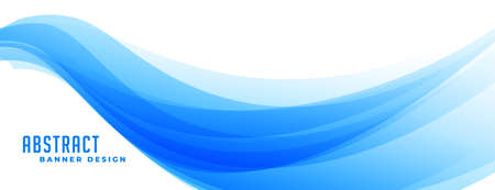 abstract blue wave presentation banner design