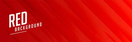 red wide banner with lines pattern design Illustration