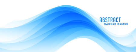 wavy abstract blue banner design