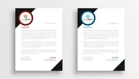 stylish set of letterhead template