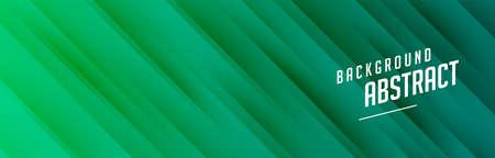 green banner with diagonal lines design Illustration