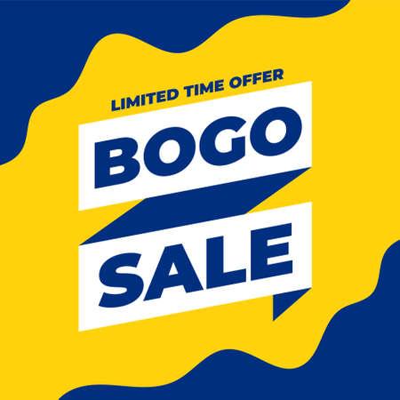 bogo buy one get one sale banner design