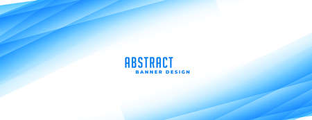 abstract blue banner with gradient lines