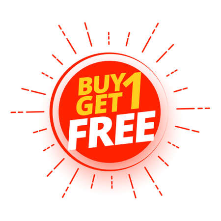 buy one get one free shopping offer design Illustration