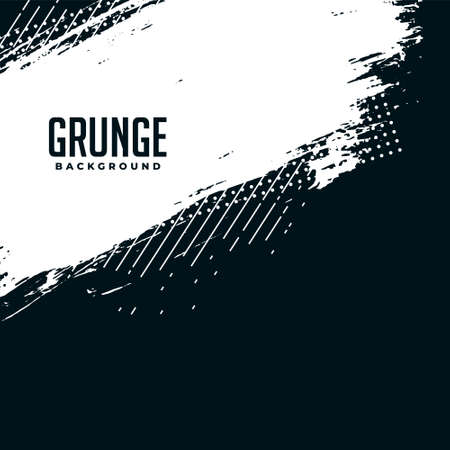 abstract black and white grunge halftone background Illustration