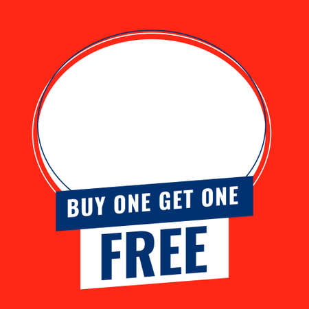 buy one get one free banner with space to add product image