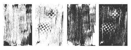 grunge distressed texture set design Illustration