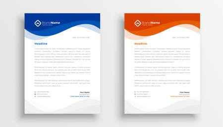 modern company business letterhead template design