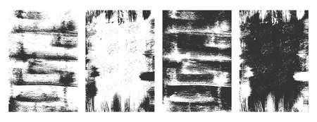 distressed overlay grunge texture background set