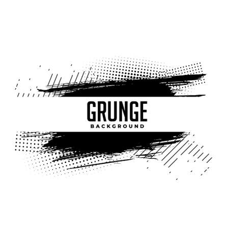 abstract grunge halftone paint brush background