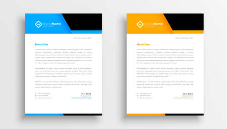 geometric company business letterhead template