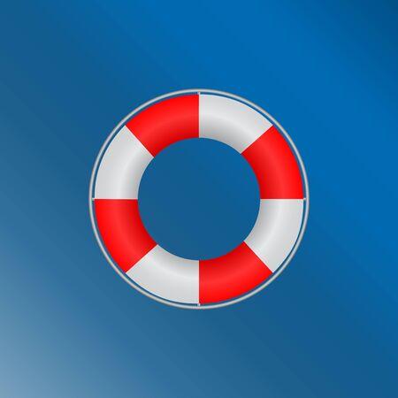 Lifebuoy, marine with a metal rim