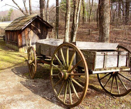 Barn & Wagon Stok Fotoğraf