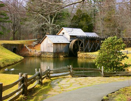Mabry Mill Stok Fotoğraf