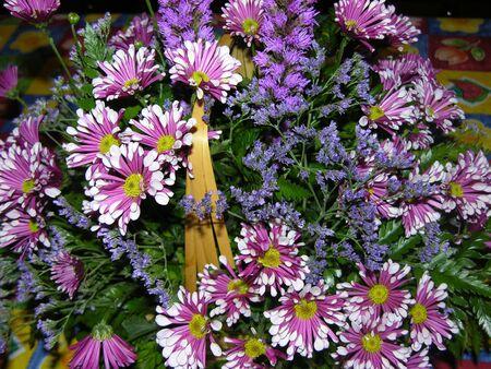 Basket of Flowers Stok Fotoğraf - 1327412