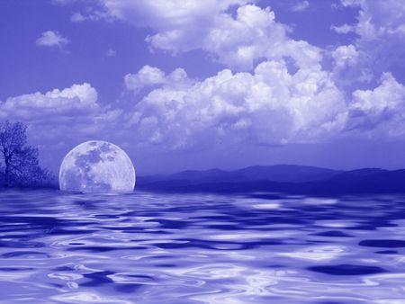 Moon River Stock Illustratie
