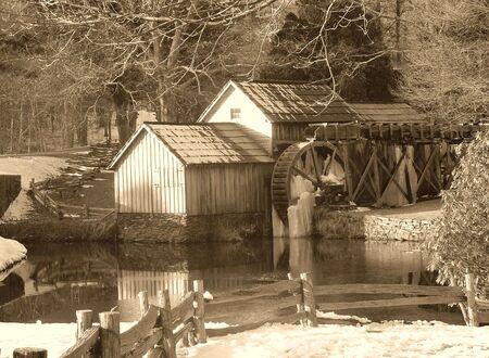 Snowy Mill Stok Fotoğraf - 1349800