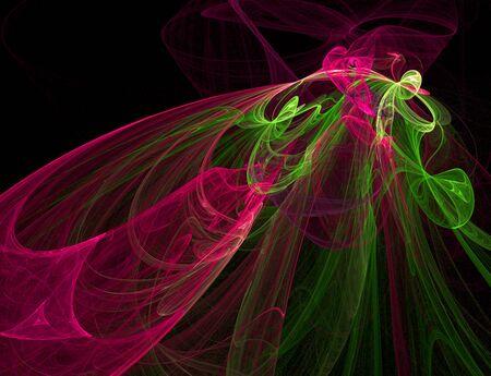 Fractal of Running Colors Ilustração