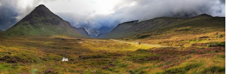 highlands valley of scotland with mountains Stock Photo - 18032544