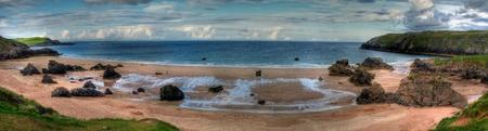 panoramic photo of durness beach highlands