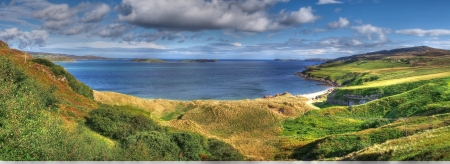panoramic highland scotland beach  photo