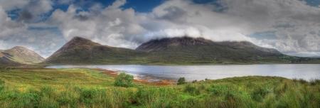 panoramic highland mountain and sea