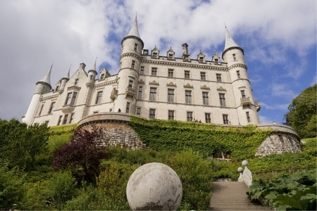 Dunrobin Castle in Scotland view from below Editorial