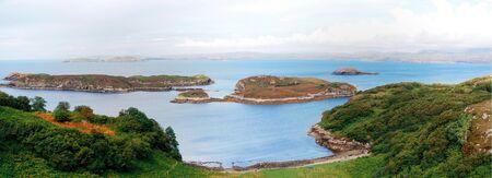panoramic highland scotland  Stock Photo