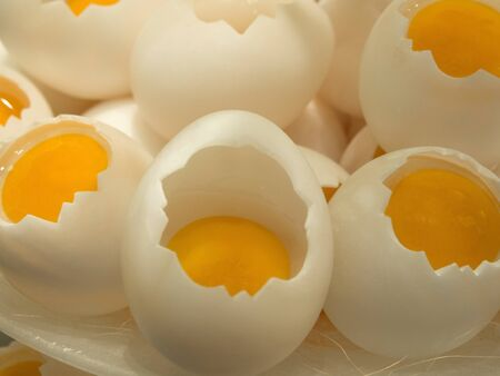 great breakfast with lots of soft-boiled eggs