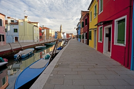 burano  Venice in Italy the buildings colours