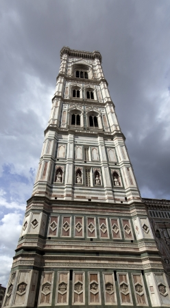 Giotto bell tower in Florence view from below