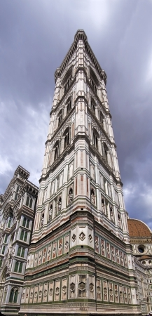campanile: Giotto bell tower in Florence view from below