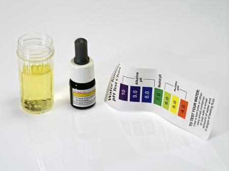 Acid acidic water test ph reagent photo