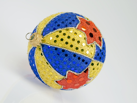 Christmas ball of many colors hand-finished