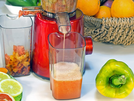 extractor: extractor juice low rpm in working produces fresh juice without oxidation, fruit around