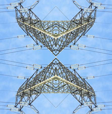 torres el�ctricas: torres de alta tensi�n surrealistas sim�tricas
