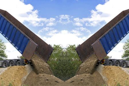 big dump truck downloading terrain