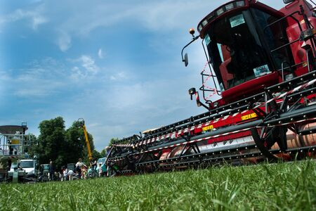 plough machine: tractor Editorial