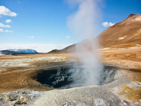 bardzo aktywne pole aktywności geotermalnej Zdjęcie Seryjne
