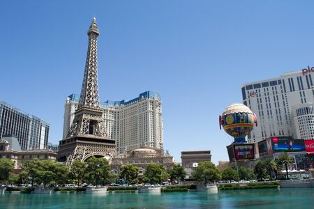 the Paris hotel and casino view from Bellagio hotel