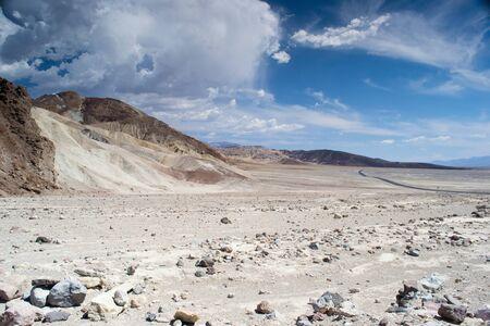 Death Valley National Park, California, USA-sierpień 3,2012 widok na dolinę Zdjęcie Seryjne