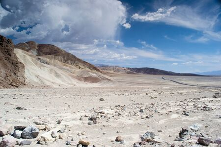 death valley national park,california,USA-august 3,2012 view of the valley  Stock Photo