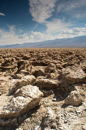 Death Valley National Park, California, USA-sierpień 3,2012 Zobacz kursu devils golf Zdjęcie Seryjne