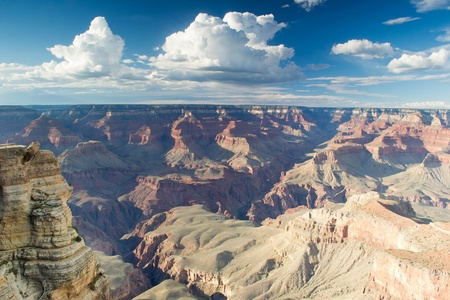 grand canyon,arizona,USA-august 5,2012 panoramic view of grand canyon photo