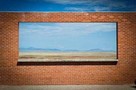 arizona,USA-august 6,2012 a windows in the desert Stock Photo