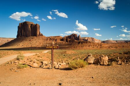 horizont: monument valley,utah,USA-august 6,2012  view of monumental valley navajo tribal park