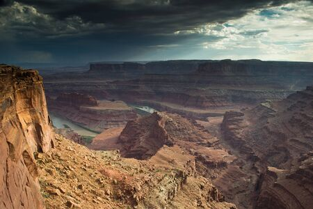 moab: view of the green river from the dead horse Stock Photo
